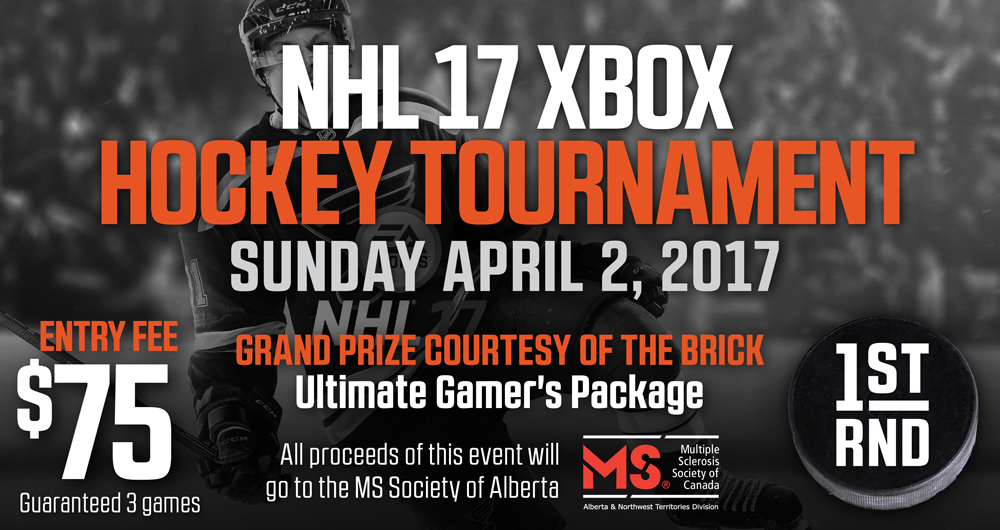 XBOX NHL 2017 TOURNEY FOR MS