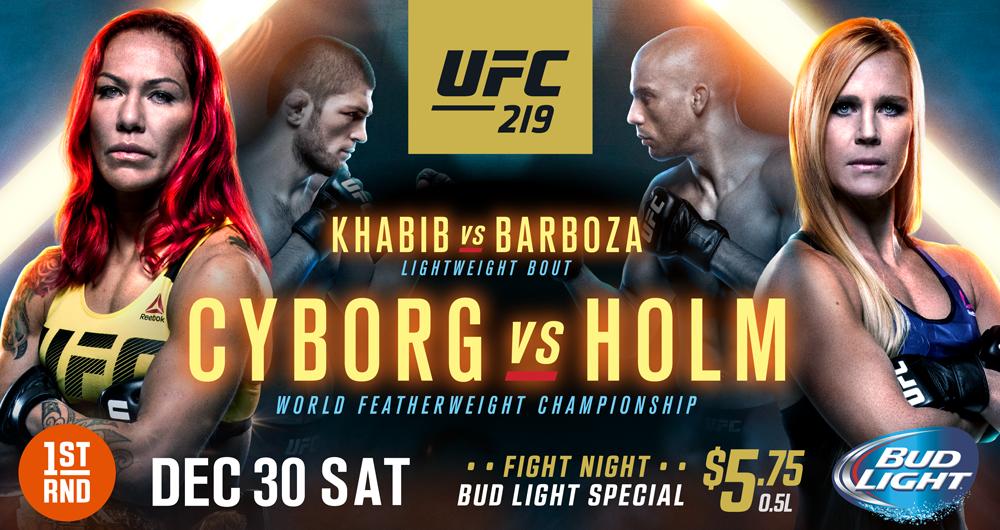 UFC 219 AT 1ST RND!!!