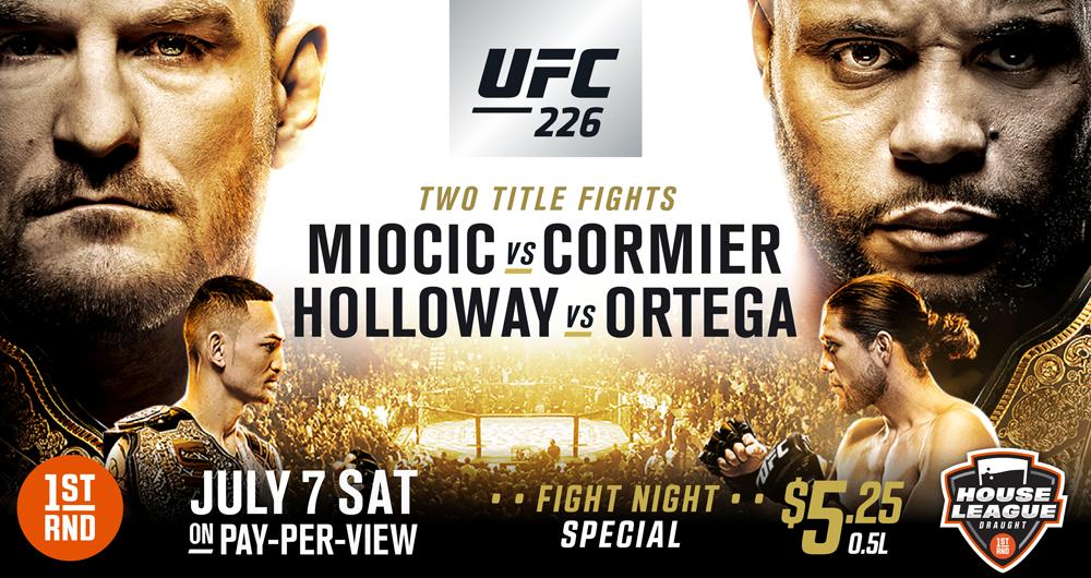 UFC 226 AT 1ST RND!!