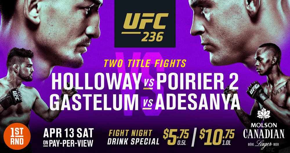 UFC 236 AT 1ST RND DT!